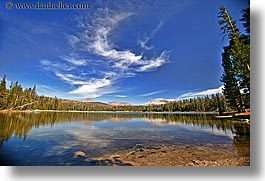 california, clouds, dogs, horizontal, lakes, nature, scenics, sky, water, west coast, western usa, yosemite, photograph