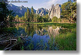 california, horizontal, mountains, pond, reflections, scenics, slow exposure, water, west coast, western usa, yosemite, photograph