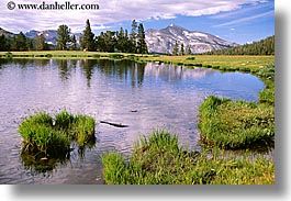 california, horizontal, mountains, nature, pond, scenics, snowcaps, water, west coast, western usa, yosemite, photograph