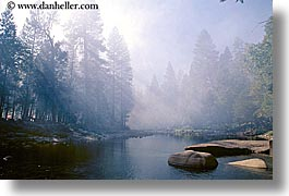 california, horizontal, lights, nature, rivers, scenics, sky, sun, sunrays, water, west coast, western usa, yosemite, photograph