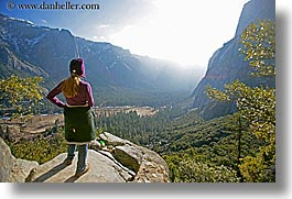 california, clothes, hats, horizontal, jills, nature, people, valley, valley view, viewing, west coast, western usa, womens, yosemite, photograph