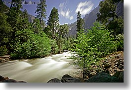california, horizontal, long exposure, motion blur, rivers, rush, water, west coast, western usa, yosemite, photograph