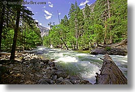 california, horizontal, logs, motion blur, rivers, rushing, water, west coast, western usa, yosemite, photograph