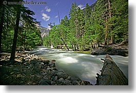 california, horizontal, logs, long exposure, motion blur, rivers, rushing, water, west coast, western usa, yosemite, photograph