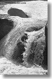 black and white, california, currents, rivers, vertical, water, west coast, western usa, yosemite, photograph