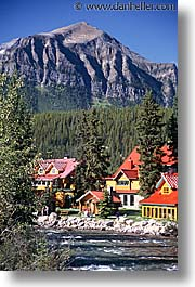 banff, canada, hotels, posts, vertical, photograph