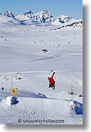 alberta, banff, canada, canadian rockies, mountains, snowboard, vertical, photograph