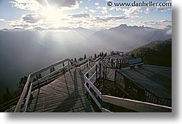 alberta, banff, canada, canadian rockies, horizontal, mountains, walkway, photograph