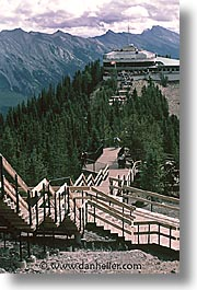 alberta, banff, canada, canadian rockies, mountains, vertical, walkway, photograph