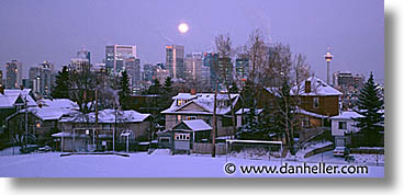 calgary, canada, cities, horizontal, panoramic, snow, photograph