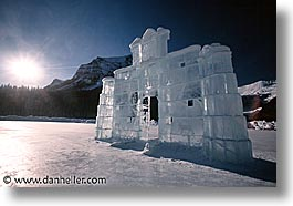 alberta, arches, canada, canadian rockies, horizontal, ice, lake louise, mountains, photograph