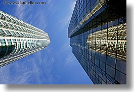 buildings, canada, horizontal, reflections, vancouver, photograph