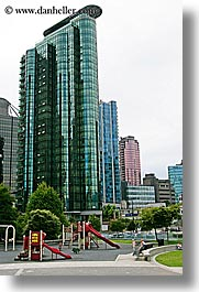 buildings, canada, colored, glasses, vancouver, vertical, photograph