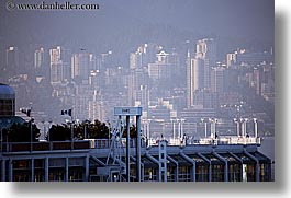 buildings, canada, horizontal, platforms, ports, vancouver, photograph