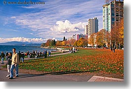 canada, cityscapes, crowds, falls, horizontal, vancouver, walk, photograph