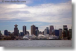 canada, cityscapes, cruise ships, horizontal, ports, vancouver, photograph