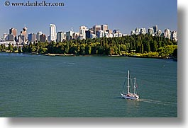 boats, canada, cityscapes, horizontal, park, sailboats, vancouver, photograph
