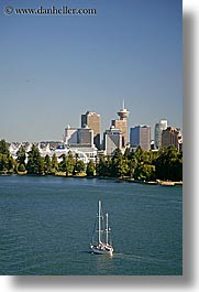 boats, canada, cityscapes, park, sailboats, vancouver, vertical, photograph