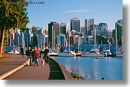 canada, cityscapes, couples, dogs, horizontal, park, stanley, vancouver, water, photograph