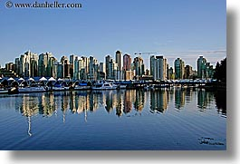 canada, cityscapes, horizontal, reflections, vancouver, water, photograph