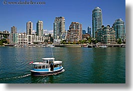 boats, canada, cityscapes, horizontal, vancouver, water, water taxi, photograph