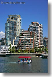 boats, canada, cityscapes, vancouver, vertical, water, water taxi, photograph