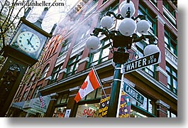 canada, clocks, gastown, horizontal, steam, vancouver, photograph