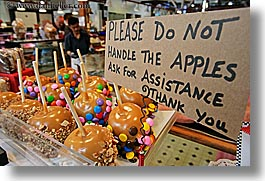 apples, canada, caramel, granville island, horizontal, vancouver, photograph