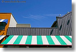 awnings, canada, colors, granville island, horizontal, striped, vancouver, photograph