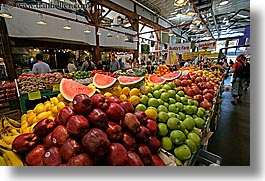 canada, fruits, granville island, horizontal, stands, vancouver, photograph
