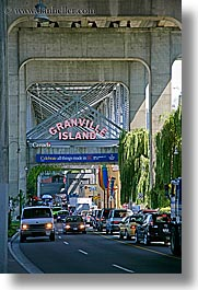 canada, granville, granville island, islands, signs, vancouver, vertical, photograph