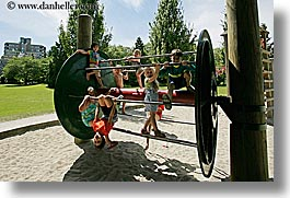 canada, childrens, granville island, horizontal, vancouver, wheels, photograph