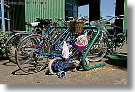 bicycles, canada, girls, granville island, horizontal, little, vancouver, photograph