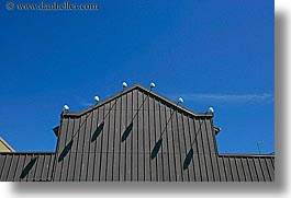 canada, granville island, horizontal, lights, roofs, sky, vancouver, photograph
