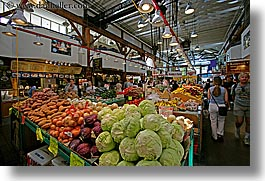 canada, granville island, horizontal, stands, vancouver, vegetables, photograph