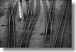 black and white, canada, horizontal, railroad, tracks, vancouver, photograph
