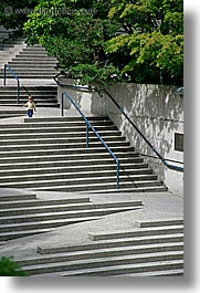 canada, kid, stairs, vancouver, vertical, photograph