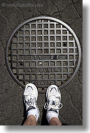 canada, manholes, vancouver, vertical, photograph