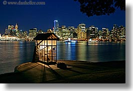 canada, canon, cityscapes, horizontal, houses, long exposure, nite, vancouver, water, photograph