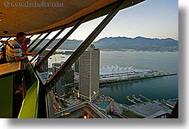 canada, center, cityscapes, dusk, from, harbor, horizontal, nite, vancouver, photograph