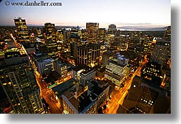 canada, center, cityscapes, from, harbor, horizontal, long exposure, nite, vancouver, photograph