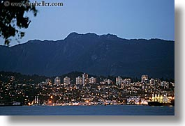 canada, cityscapes, horizontal, long exposure, nite, north, vancouver, photograph