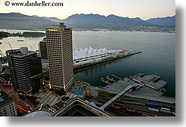canada, dusk, horizontal, nite, ports, vancouver, water, photograph