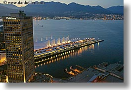 canada, dusk, eve, evening, horizontal, nite, ports, slow exposure, vancouver, water, photograph