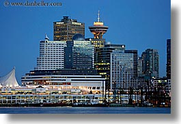 canada, cityscapes, horizontal, nite, ports, slow exposure, vancouver, photograph