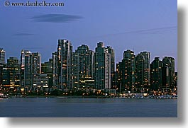canada, cityscapes, dusk, horizontal, long exposure, nite, vancouver, water, photograph
