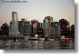 canada, cityscapes, dusk, horizontal, nite, vancouver, water, photograph