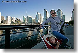 babies, canada, cityscapes, horizontal, jack and jill, jacks, mothers, people, stroller, vancouver, photograph