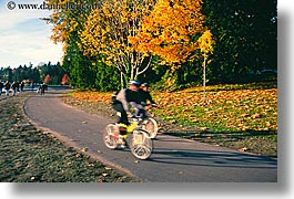 canada, cyclists, horizontal, park, stanley, stanley park, vancouver, photograph