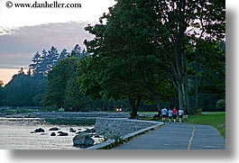canada, horizontal, park, paths, people, stanley, stanley park, vancouver, walkers, photograph